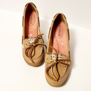Sperry Top Sider Leopard Print Wedge Shoes